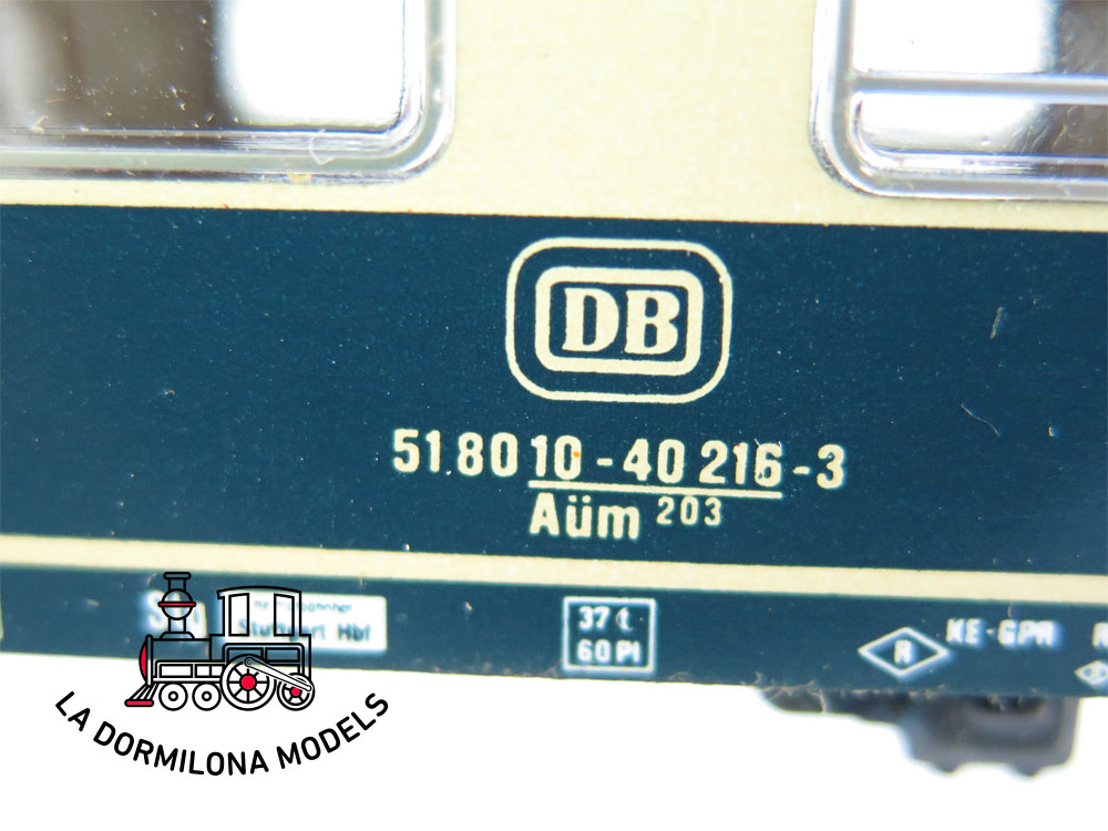 PL376 H0 ~AC Märklin CONJUNTO DE 5 COCHES PASAJEROS de la DB - S/C