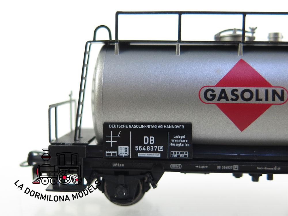 PL384 H0 ~AC MÄRKLIN VAGÓN CISTERNA GASOLIN de la DB - S/C