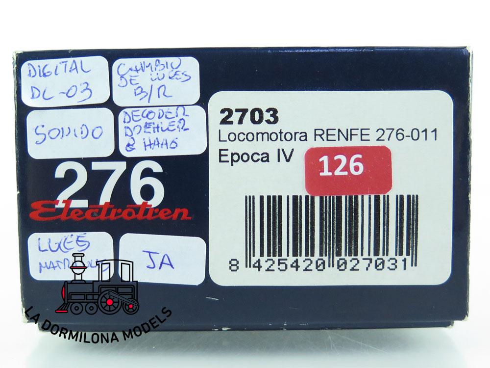JA126 H0 =DCC + SONIDOS ELECTROTREN 2703 LOCOMOTORA Electrica 276-011 - OVP