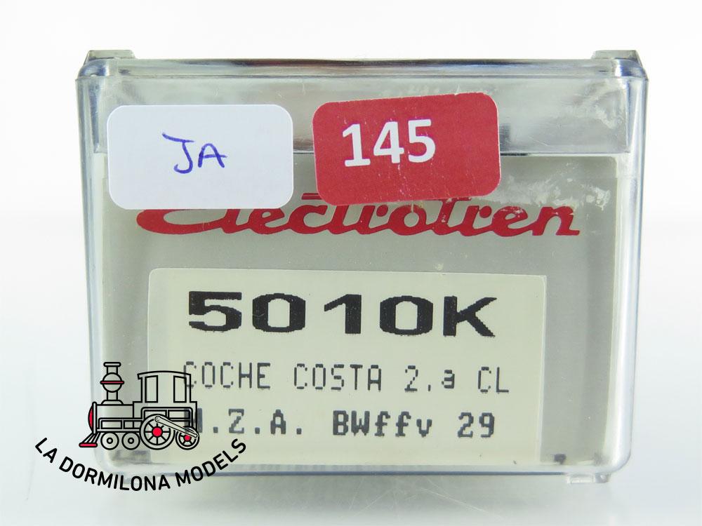 JA145 H0 =DC ELECTROTREN 5010 k COCHE PASAJEROS COSTA BWffv29 M.Z.A. RENFE + LUZ - OVP