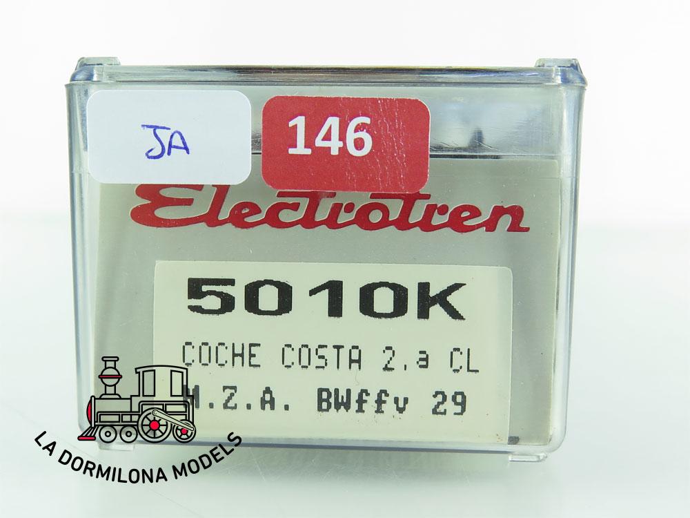 JA146 H0 =DC ELECTROTREN 5010 k COCHE PASAJEROS COSTA BWffv29 M.Z.A. RENFE + LUZ - OVP