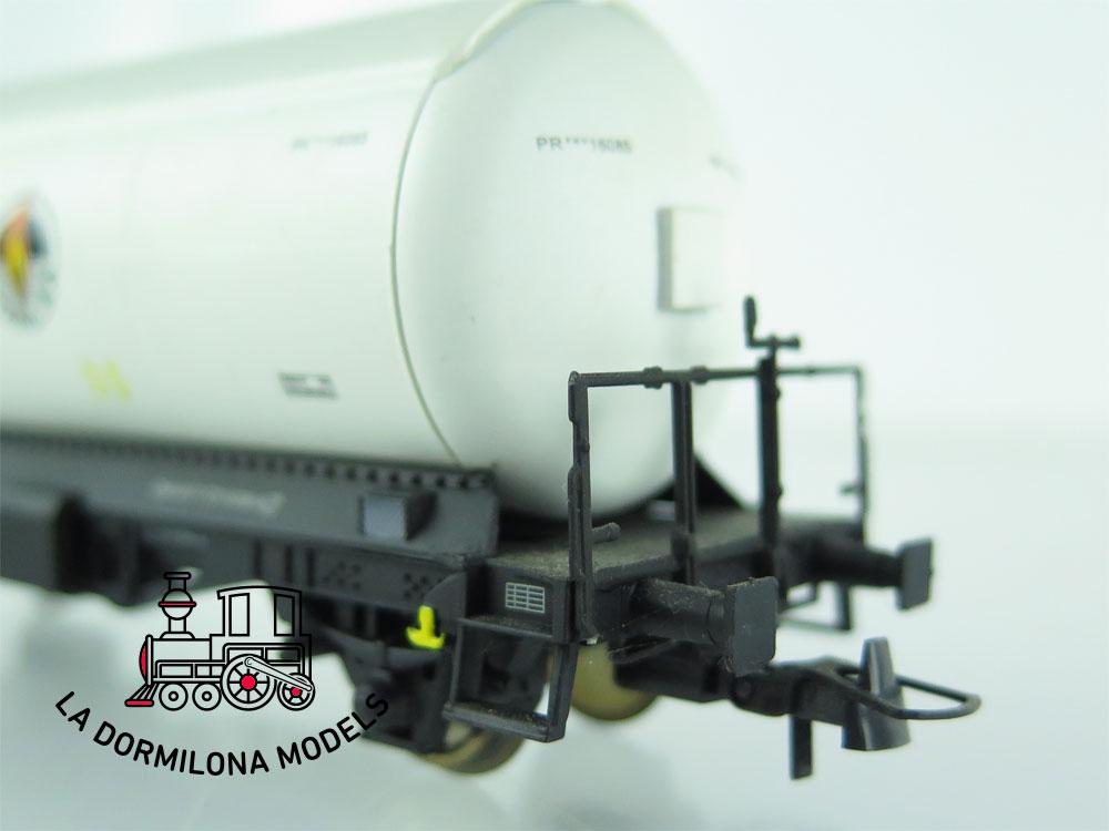 JA154 H0 =DC K-Train 0708-M VAGON CISTERNA para GASES LICUADOS BUTANO RENFE OVP