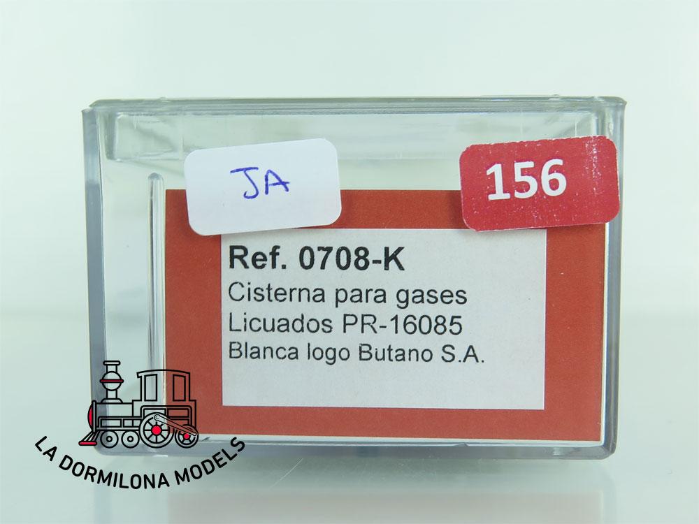 JA156 H0 =DC K-Train 0708-K VAGON CISTERNA para GASES LICUADOS BUTANO RENFE - OVP