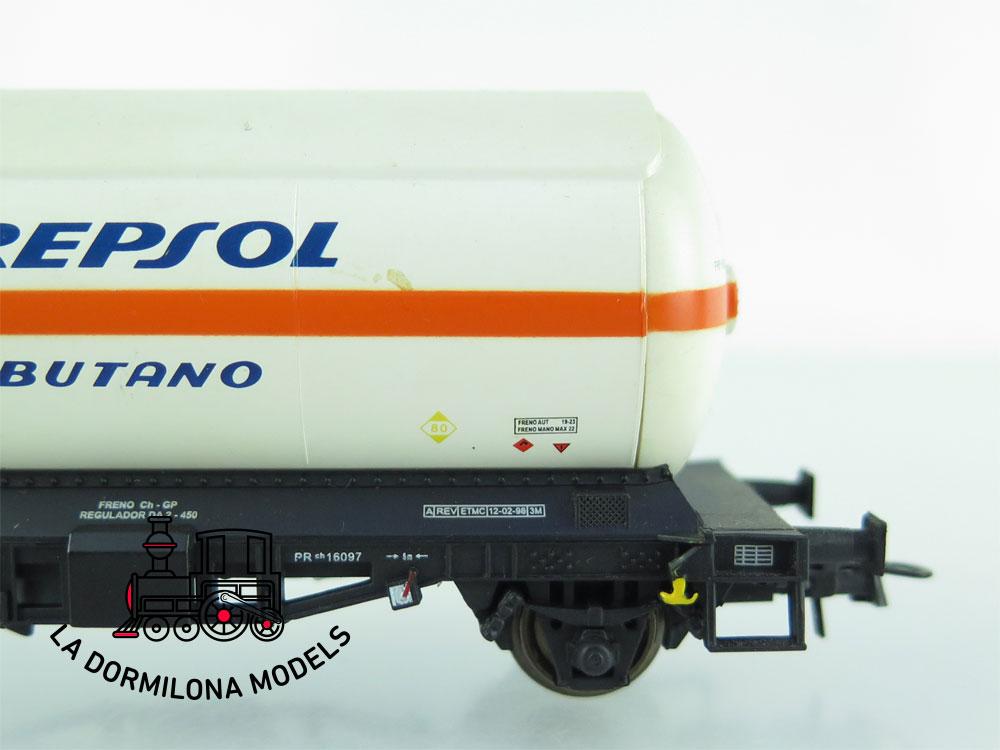JA157 H0 =DC K-Train 0708-J VAGON CISTERNA para GASES LICUADOS REPSOL RENFE - OVP