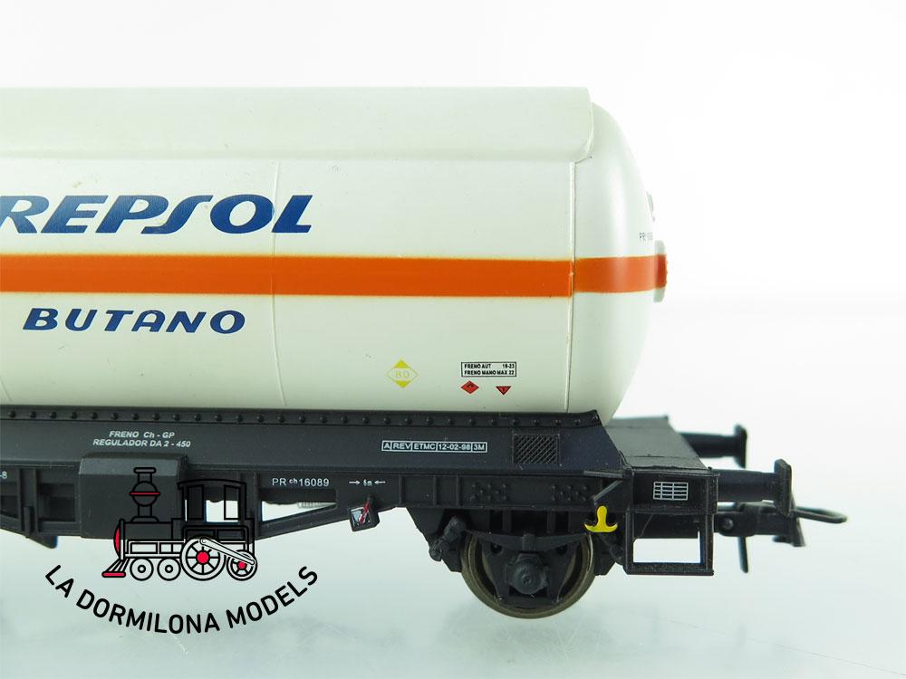JA158 H0 =DC K-Train 0708-I VAGON CISTERNA para GASES LICUADOS REPSOL RENFE - OVP