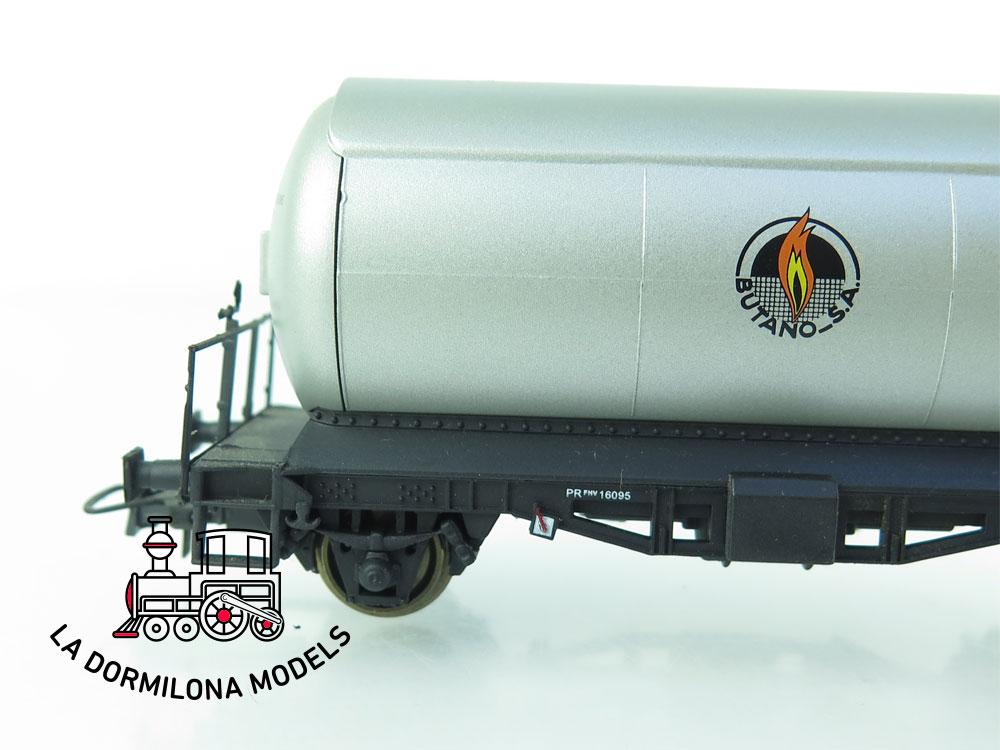 JA160 H0 =DC K-Train 0708-G VAGON CISTERNA para GASES LICUADOS - RENFE - OVP