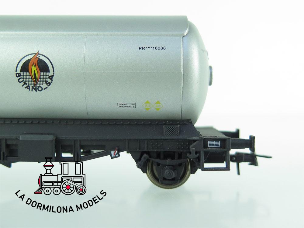 JA161 H0 =DC K-Train 0708-F VAGON CISTERNA para GASES LICUADOS - RENFE - OVP