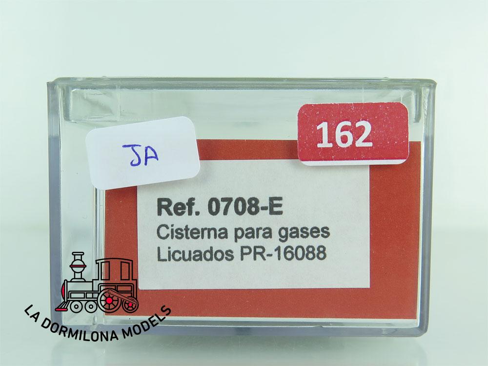 JA162 H0 =DC K-Train 0708-E VAGON CISTERNA para GASES LICUADOS - RENFE - OVP