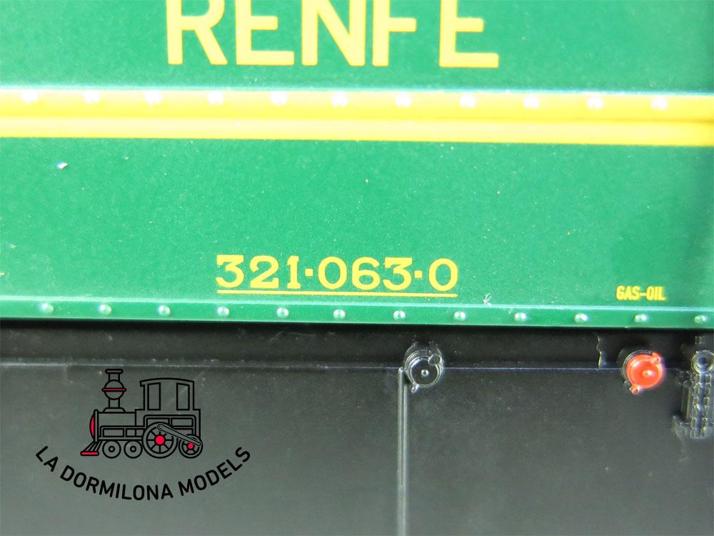 XA107 H0 =DCC DIGITAL ELECTROTREN 3113 LOCOMOTORA DIESEL 321-063-0 RENFE - OVP