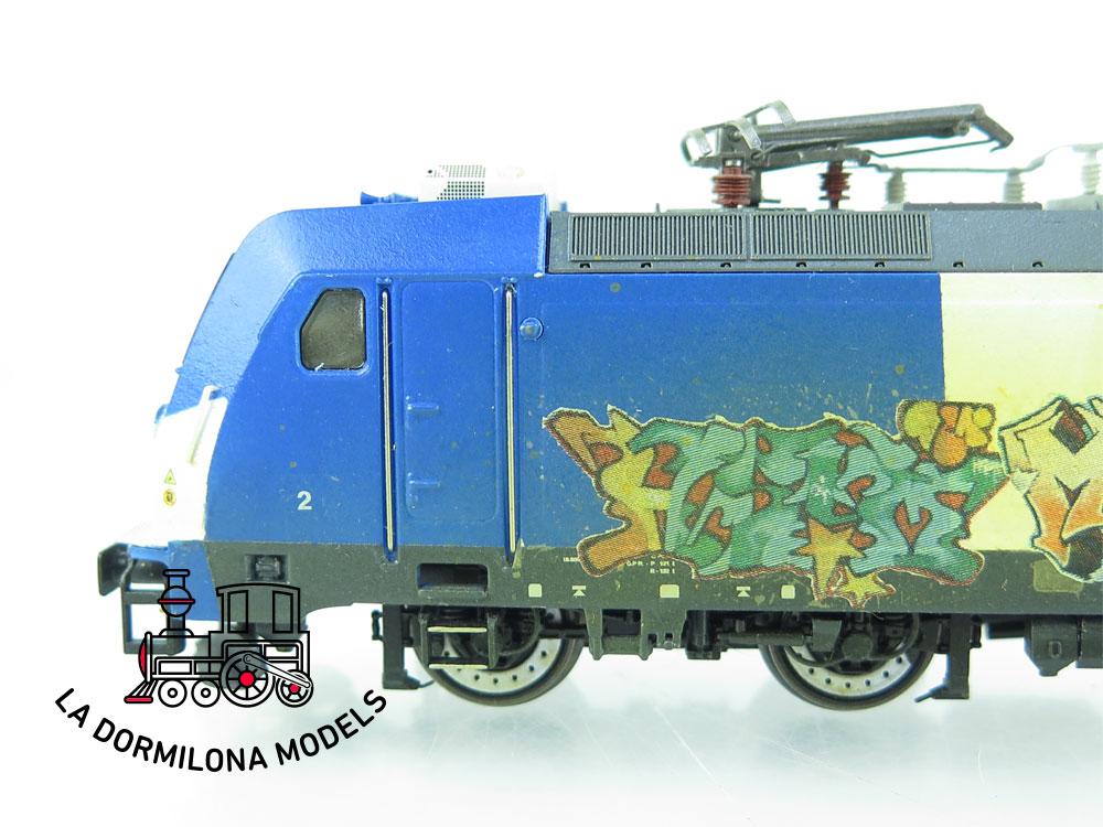 XA112 H0 =DCC DIGITAL ELECTROTREN 3698 Locomotora Electrica 253 Grafiti RENFE - OVP