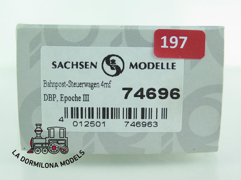 AX197 H0 =DC SACHSEN MODELLE 74696 BAHNPOST-STEUERWAGEN 4MF DBP Ep.III - OVP