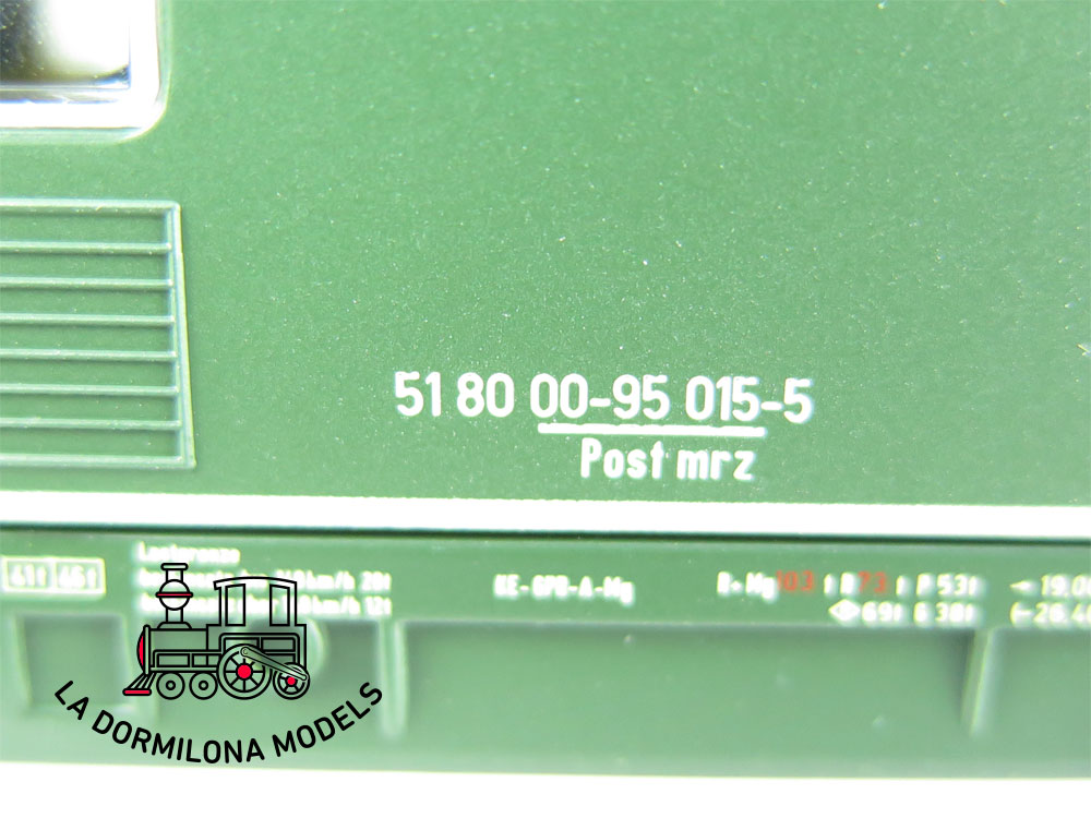XA193 H0 =DC SACHSEN MODELLE 14638 BAHNPOSTWAGEN mrz DPAG Ep.V - OVP