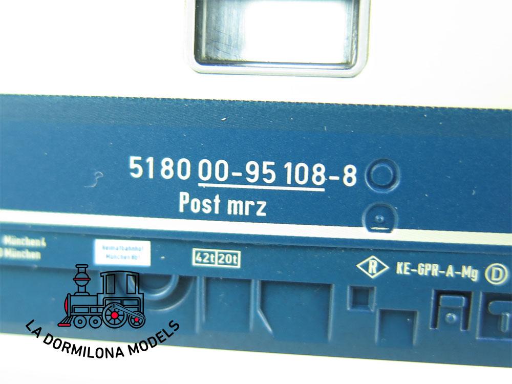 XA194 H0 =DC SACHSEN MODELLE 74559 BAHNPOSTWAGEN mrz DPAG Ep.V - OVP