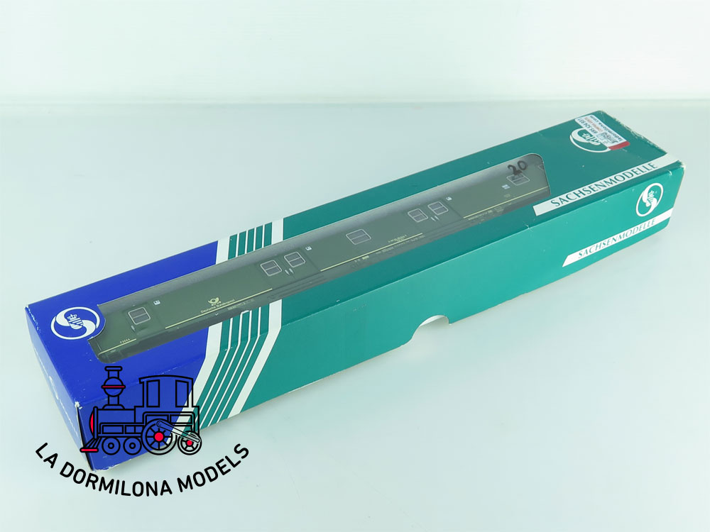 XA196 H0 =DC SACHSEN MODELLE 14633 BAHNPOSTYWAGEN mrz DBP Ep.IV - OVP