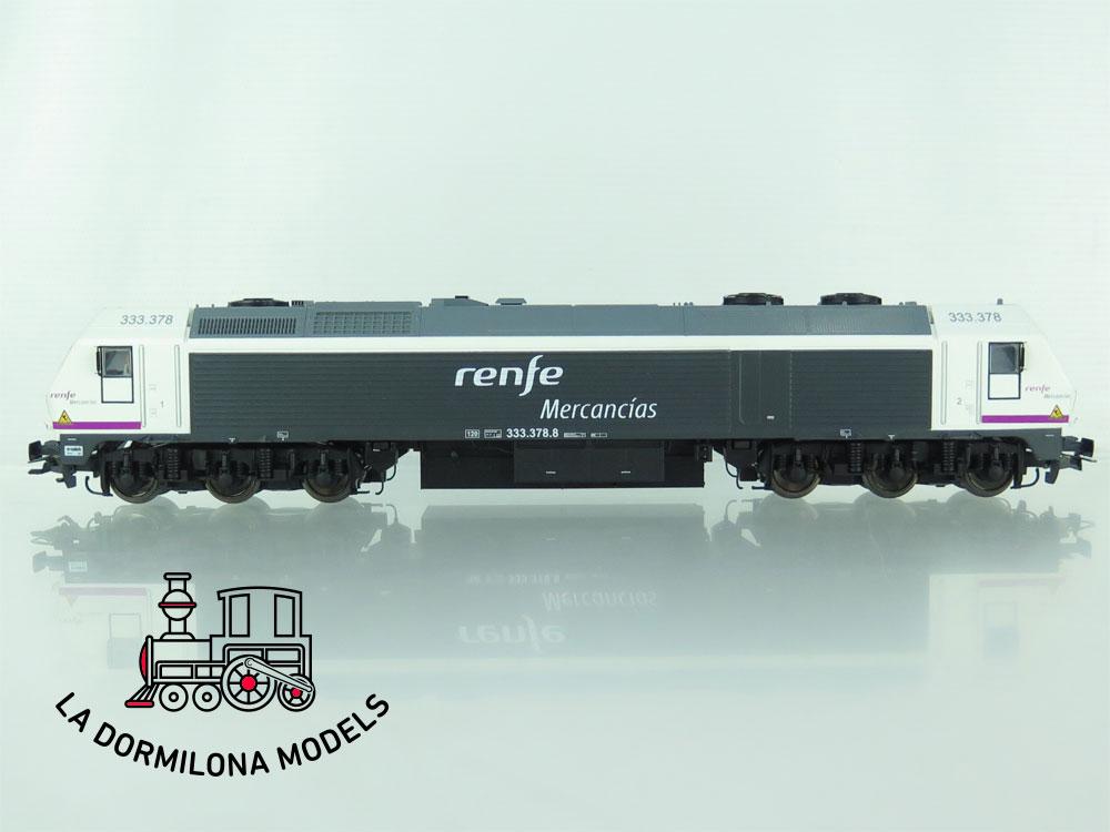 XA214 H0 =DCC + SONIDO MABAR 58803 Locomotora DIESEL 333-378-8 MERCANCIAS RENFE - OVP