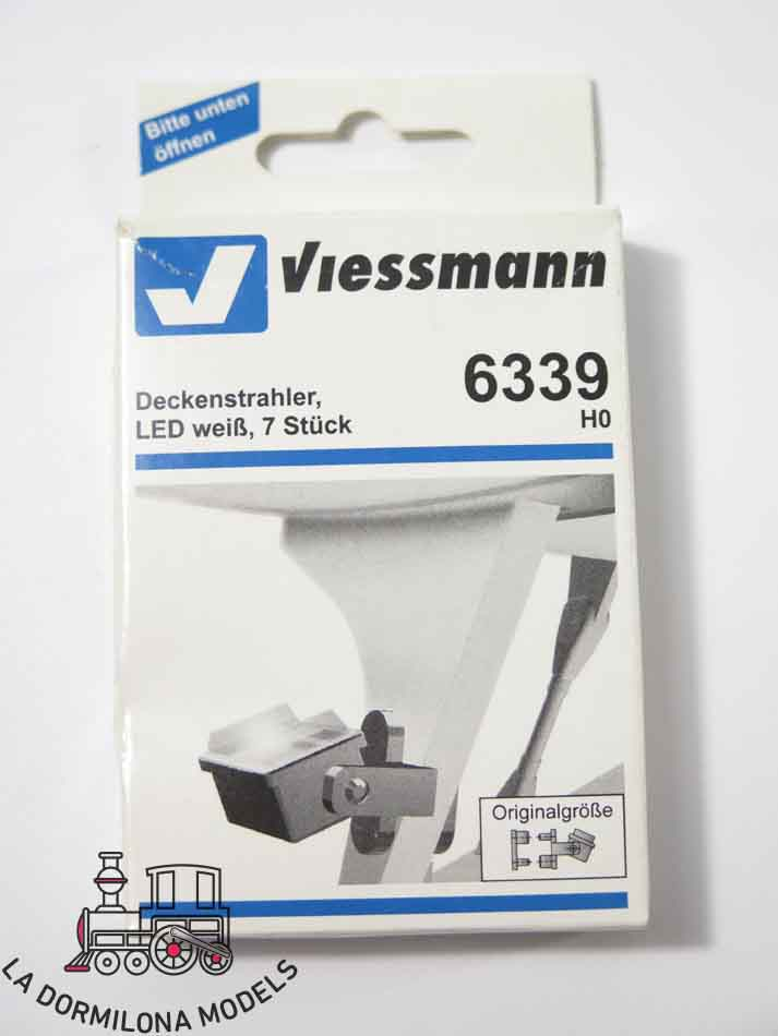 Viessmann 6339 Deckenstrahler 7 Stück LED weiß