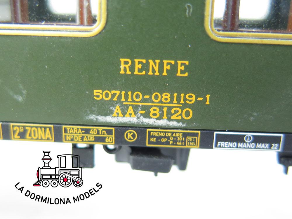 DA465 H0 =DC ELECTROTREN COCHE VIAJEROS 8000 AA-8120 1ª Clase RENFE - S/C