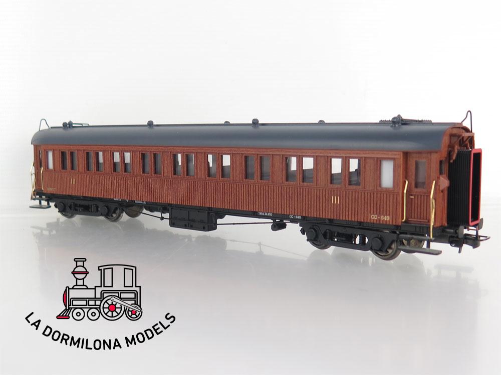 DA499 H0 =DC IBERTREN 4404-A COCHE MADERA LARGO RECORRIDO CC-649 RENFE - OVP