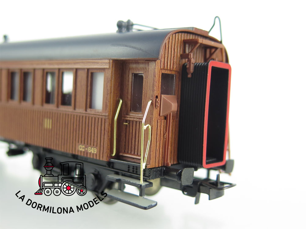 DA500 H0 =DC IBERTREN 4404-B COCHE MADERA LARGO RECORRIDO CC-649 RENFE - OVP