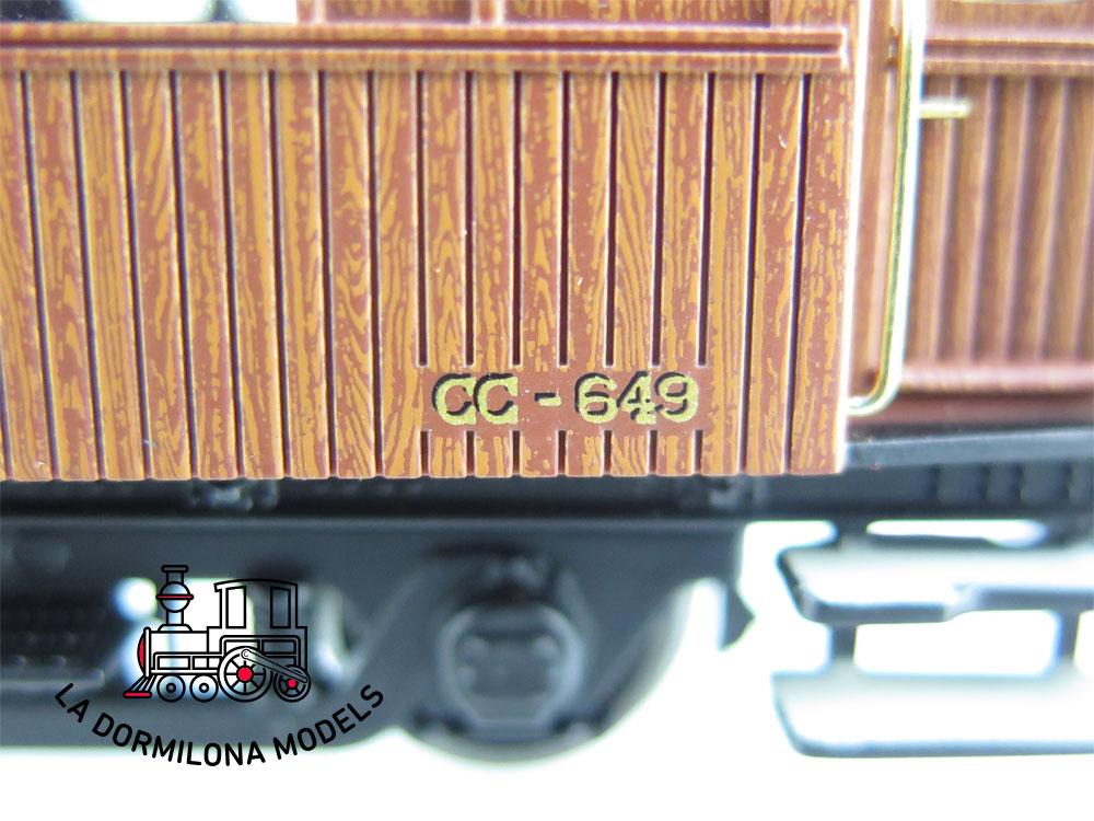 DA501 H0 =DC IBERTREN 44053 COCHE MADERA LARGO RECORRIDO CC-649 RENFE - OVP