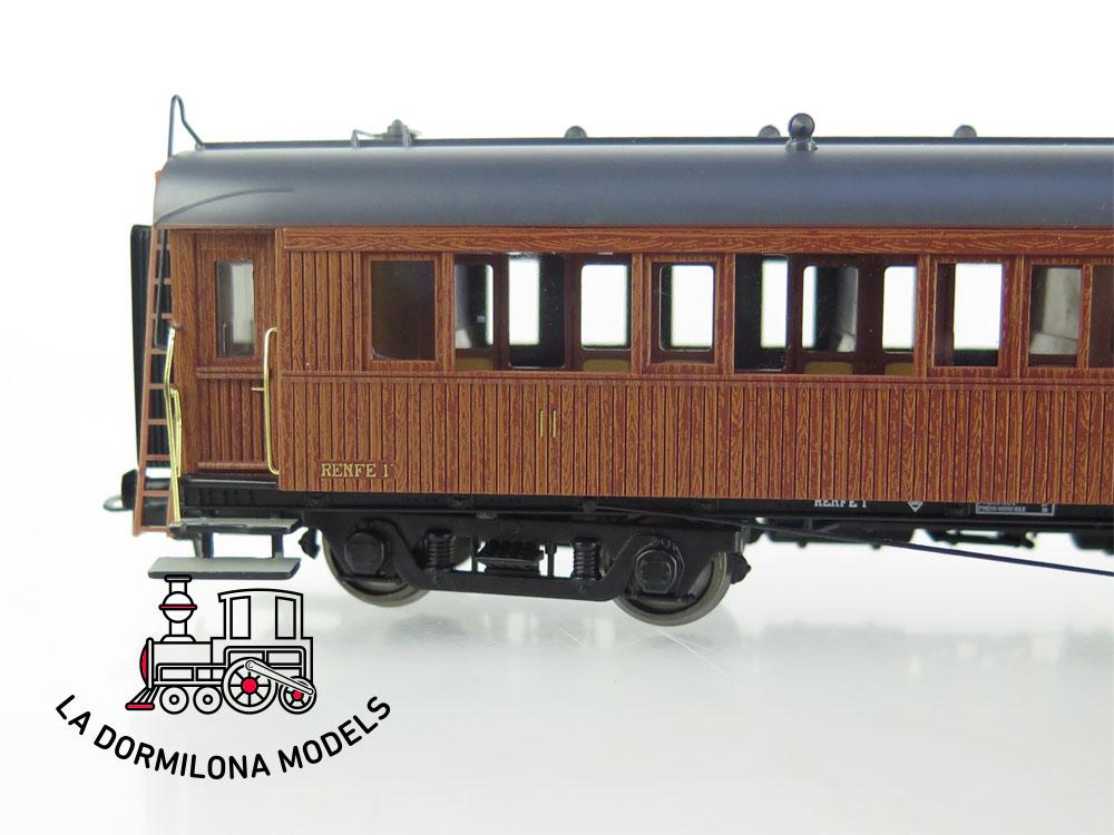 DA506 H0 =DC IBERTREN 44052 COCHE MADERA LARGO RECORRIDO BB-801 RENFE - OVP