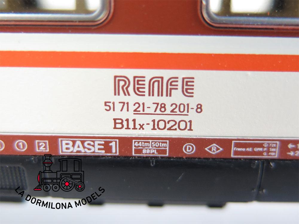 DA507 H0 =DC 1:87 ROCO 64410 COCHE VIAJEROS B11x-10201 2ªClase RENFE ESTRELLA - OVP