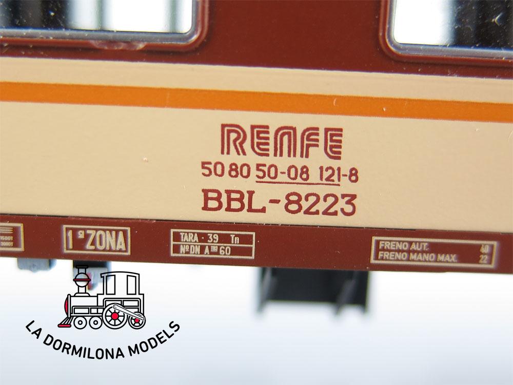 DA508 H0 =DC ROCO 64043 COCHE LITERAS BBL-8223 2ªClase RENFE ESTRELLA - C/R