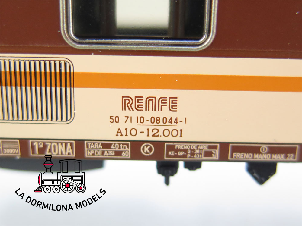 DA509 H0 =DC ELECTROTREN COCHE VIAJEROS A10-12.001 1ªClase RENFE ESTRELLA - OVP