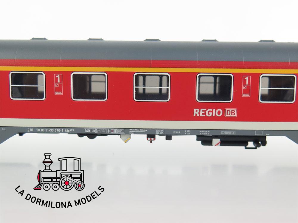 DA518 H0 =DC RIVAROSSI COCHE VIAJEROS REGIO DB I/II CLASE ABn 417.1 de la DB - S/C