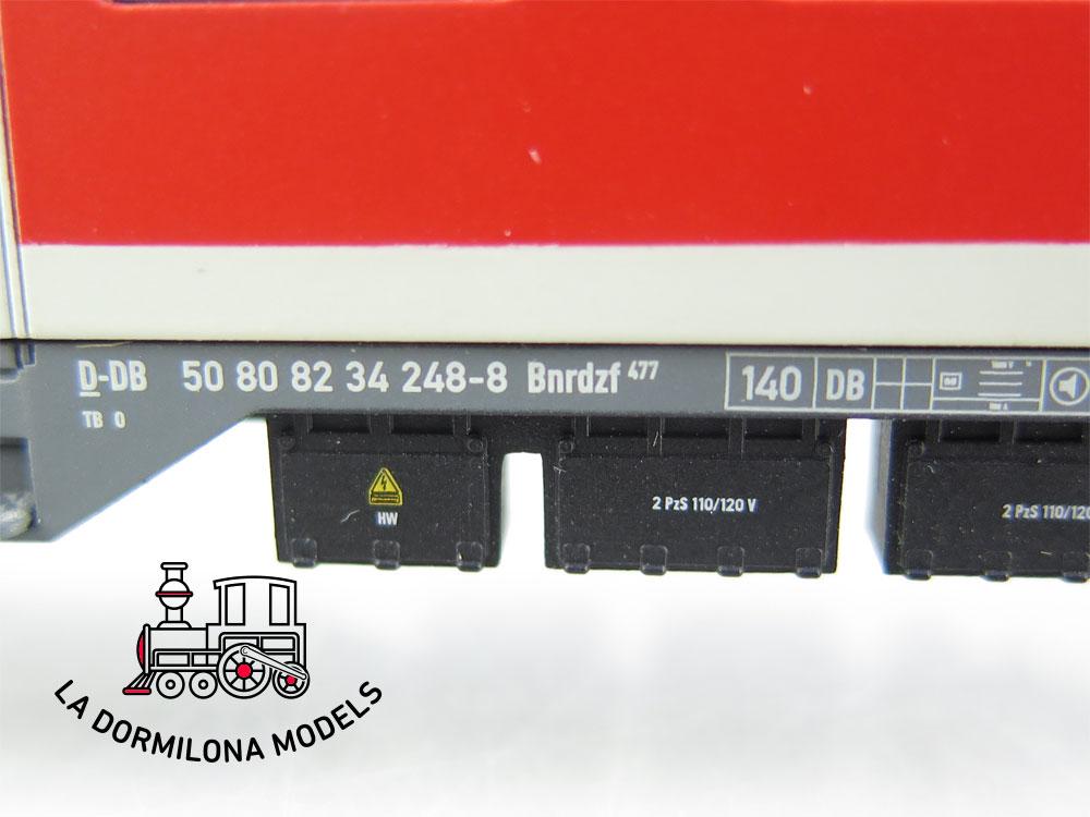 DA527 H0 =DC RIVAROSSI COCHE PILOTO STEUERWAGEN REGIO DB 2ª CLASE Bnrdzf 477 de la DB  S/C