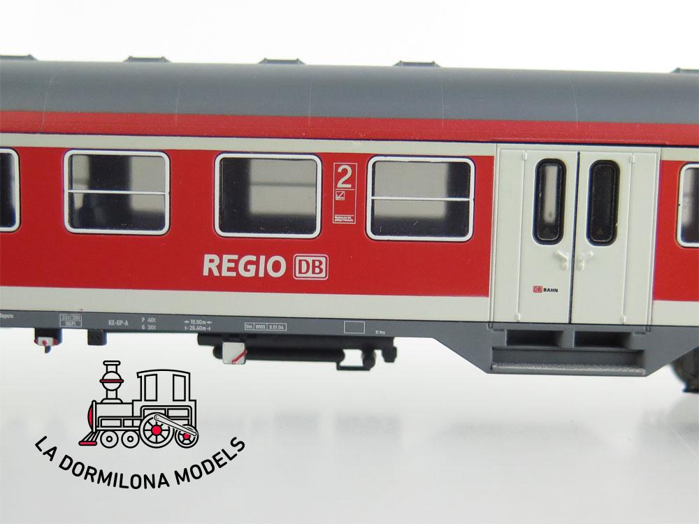 DA528 H0 =DC RIVAROSSI COCHE PASAJEROS REGIO DB 2ª CLASE Bn 448 de la DB  S/C