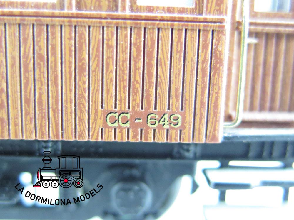 DA530 H0 =DC IBERTREN COCHE PASAJEROS III Clase CC-649 RENFE  S/C