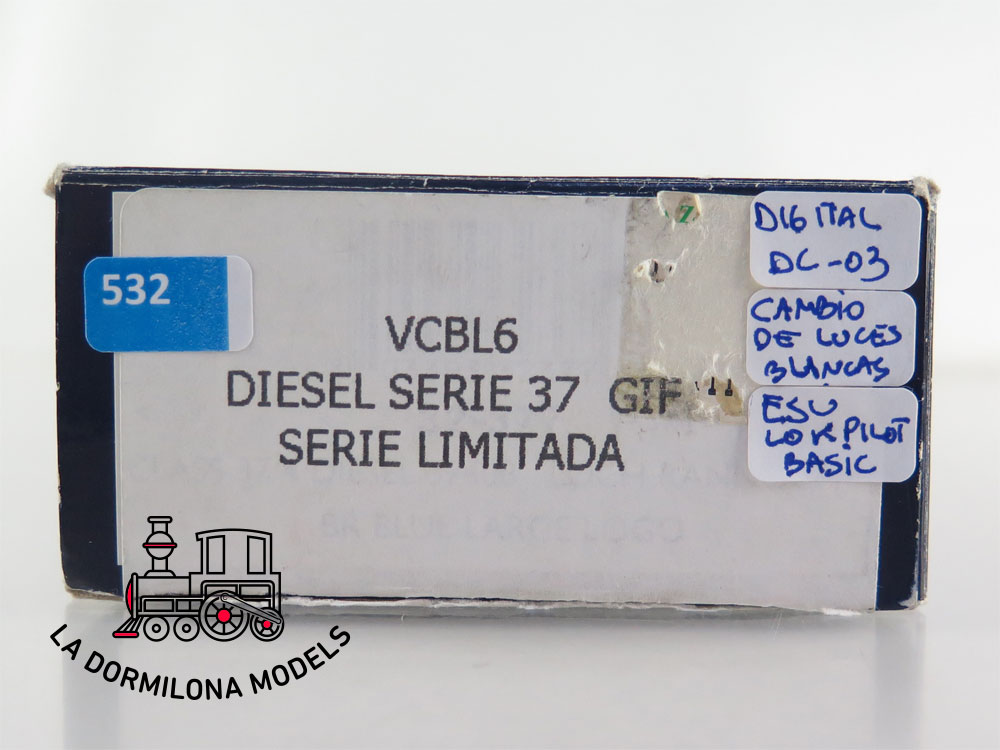 DA532 H0 =DC DIGITAL BACHMANN VCBL6 DIESEL SERIE 37 802 GIF - OVP