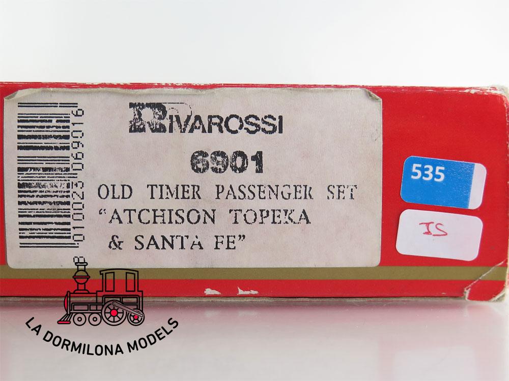 DA535 H0 =DC RIVAROSSI 6901 OLD TIMER PASSENGER SET ATCHISON TOPEKA & SANTA FE - OVP