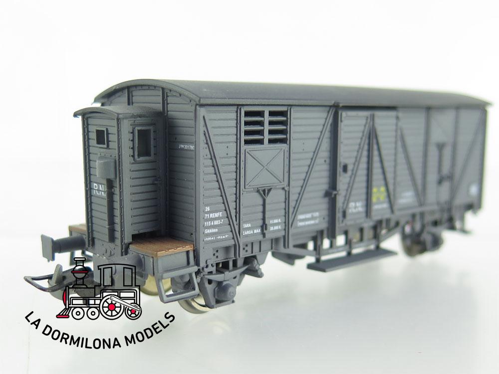 DA536 H0 =DC K-TRAIN 0702-G VAGON CERRADO CON GARITA J-301780 RENFE - OVP
