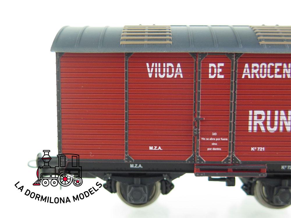 DA537 H0 =DC K-TRAIN 0710-F VAGON TRANSPORTE DE VINO VIUDA DE AROCENA MZA - OVP