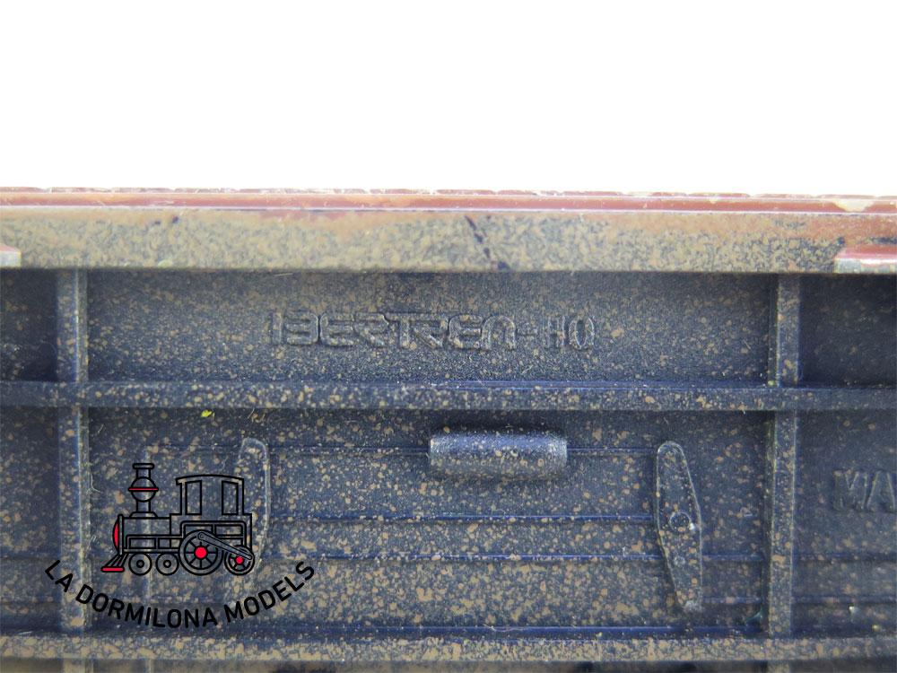 DM39 H0 =DC IBERTREN VAGON MERCANCIAS PLATAFORMA CON EJES RENFE (repintado) - OVP