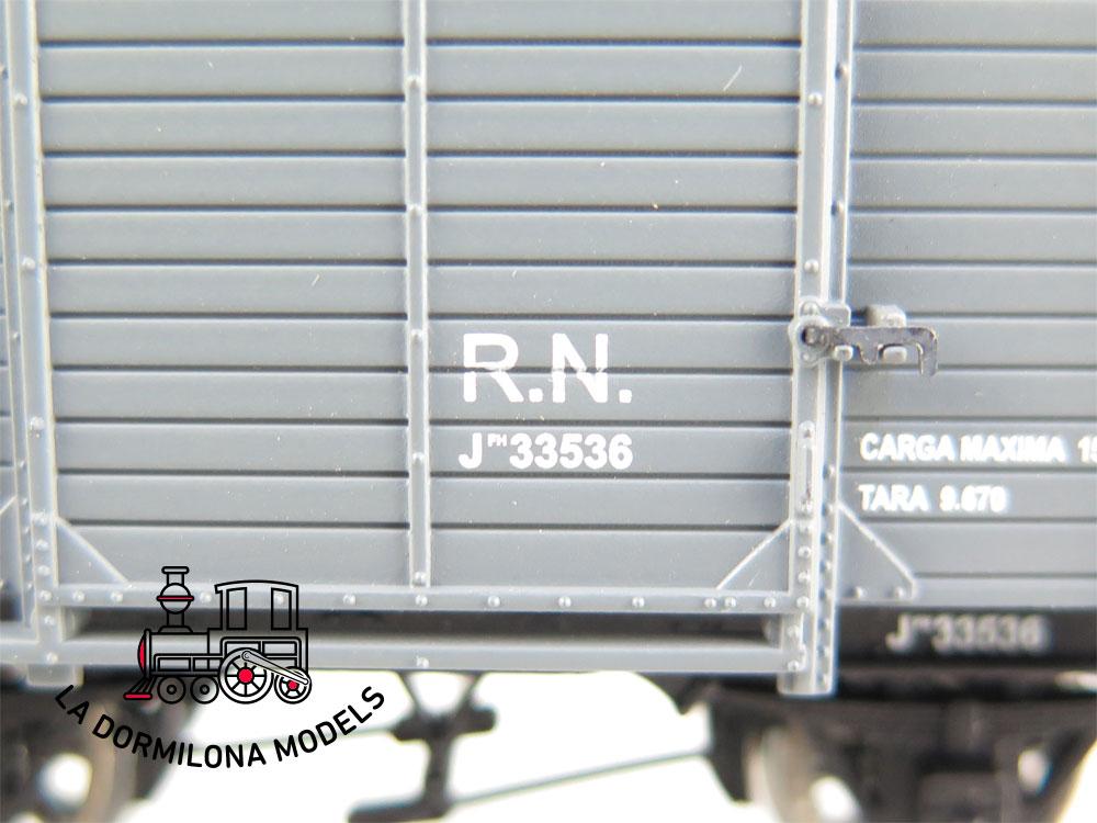 DM40 H0 =DC IBERTREN 45041 VAGON CERRADO CON GARITA JFH 33536 RENFE - OVP