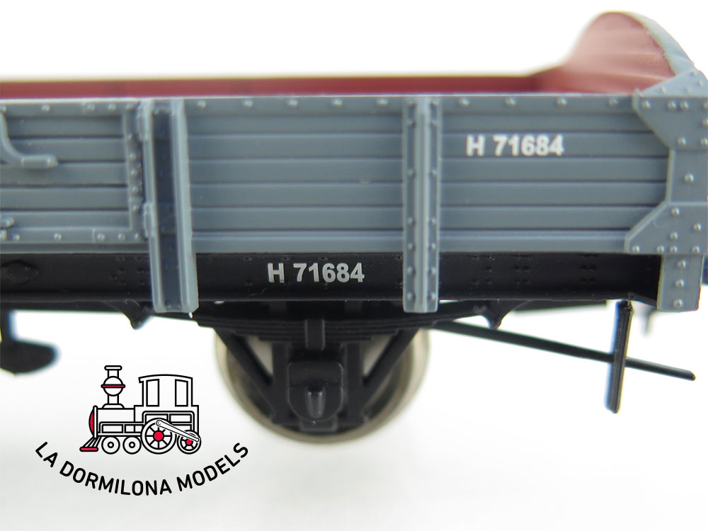 DM41 H0 =DC IBERTREN 45032 VAGON BORES BAJOS H 71684 RENFE - OVP