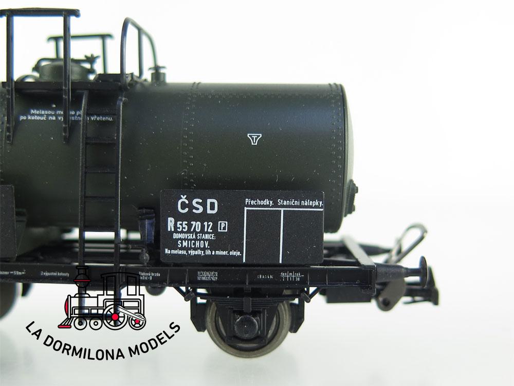 DM48 H0 =DC SACHSENMODELLE 76069 VAGON CISTERNA FISCHALA de CSD Ep.II - OVP