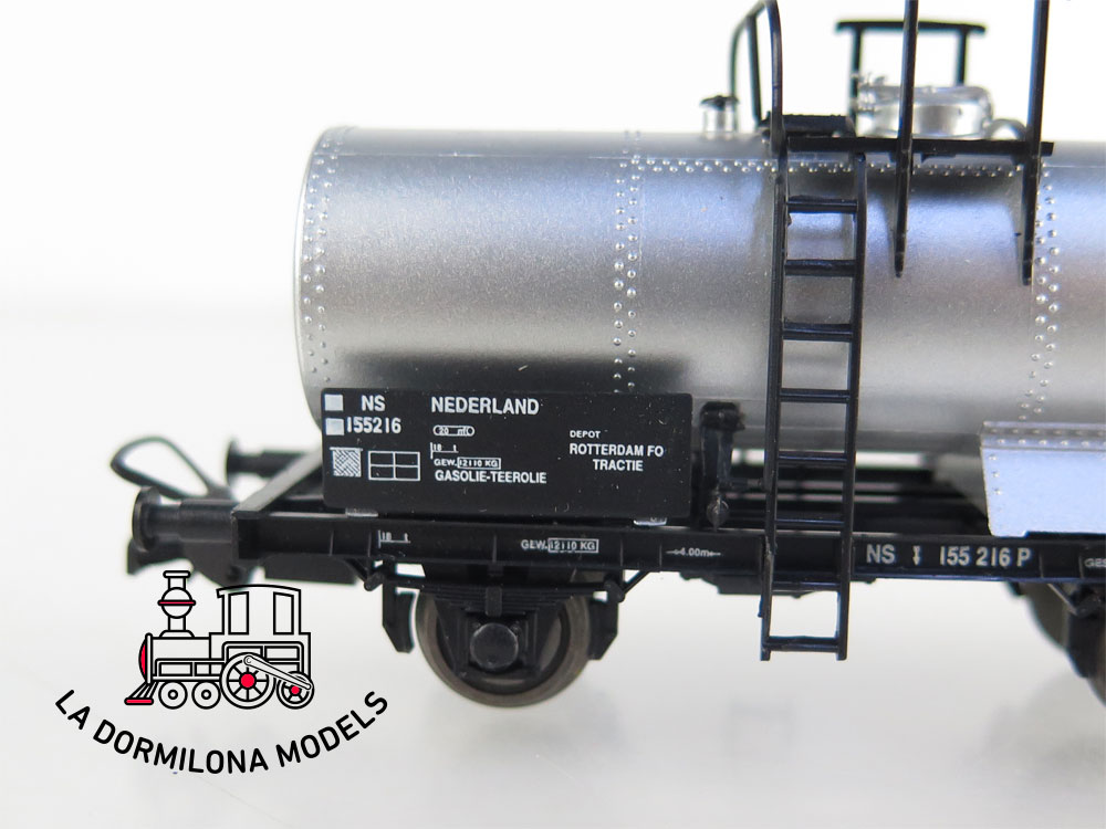 DM49 H0 =DC SACHSENMODELLE 76068 VAGON CISTERNA con GARITA de la NS Ep.III - S/C