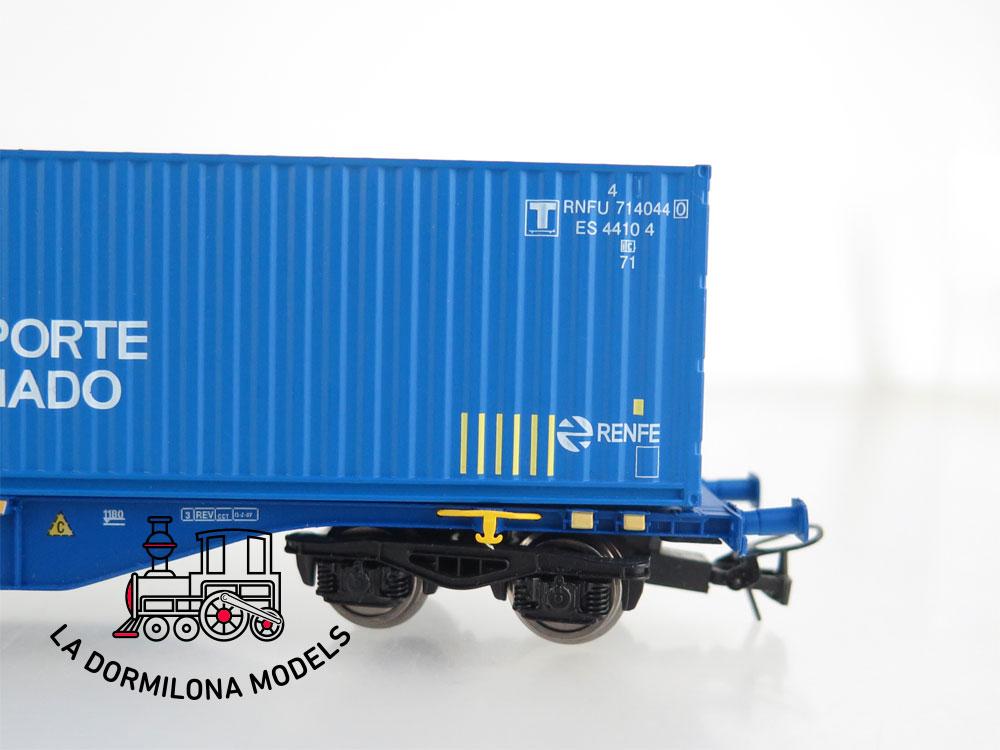DM54 H0 =DC MABAR 58882 VAGON PORTA CONTENEDORES MMCce 452479 Trans. Combinado RENFE- S/C