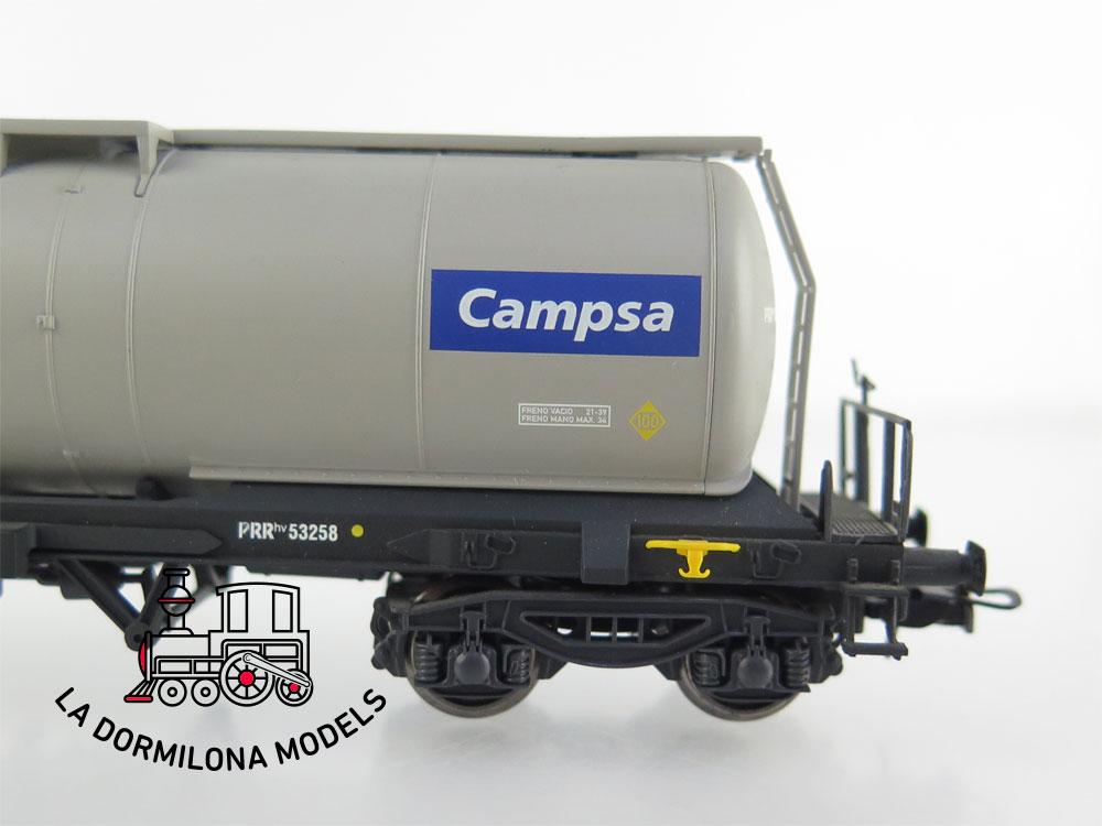 DM64 H0 =DC ELECTROTREN VAGON CISTERNA Zaes PRRhv 53258 CAMPSA RENFE- S/C