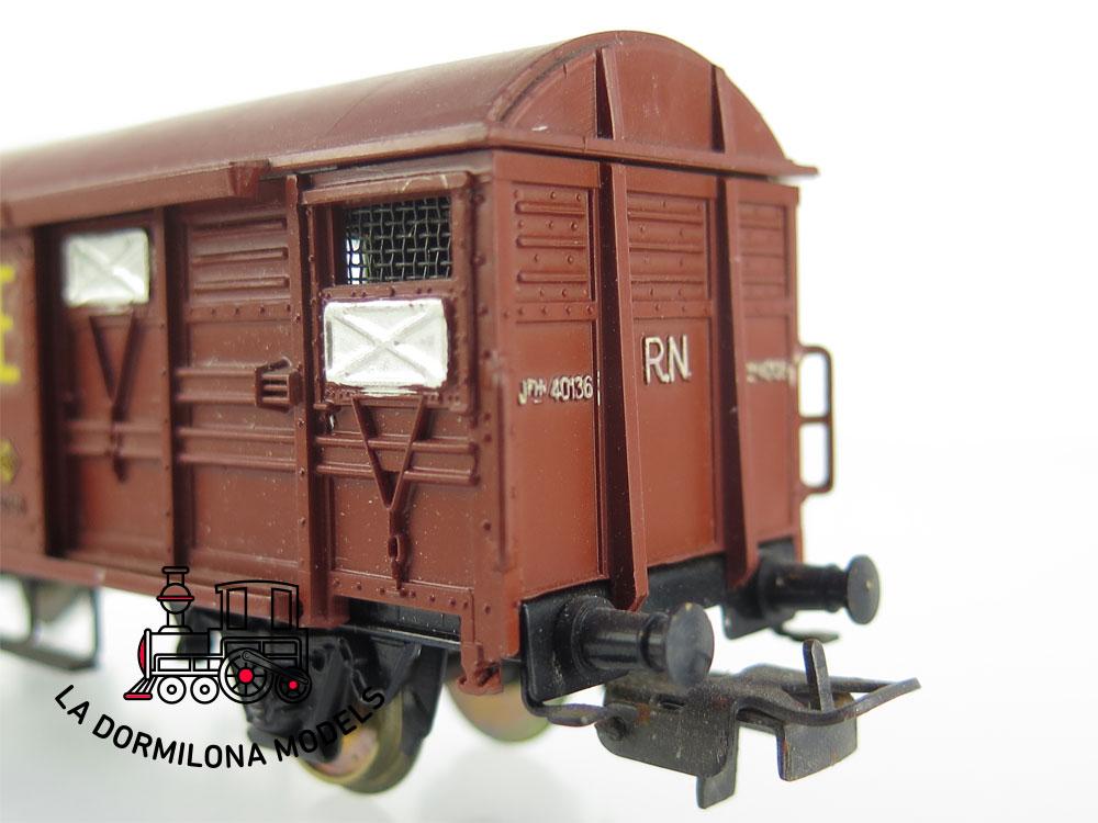 DM68 H0 =DC ELECTROTREN VAGON MERCANCIAS CERRADO JFHV 40136 TE RENFE - S/C