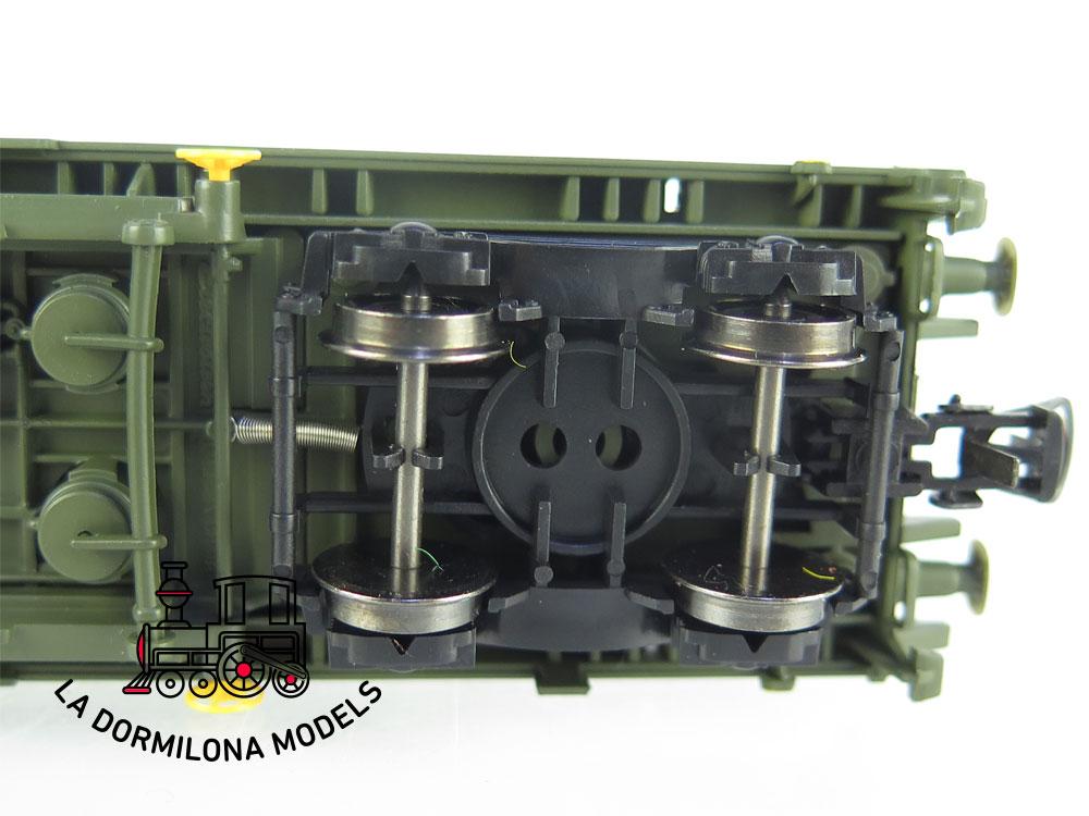 DM76 H0 =DC ELECTROTREN VAGON PLATAFORMA MILITAR Rmmns Z-23329 RENFE - S/C