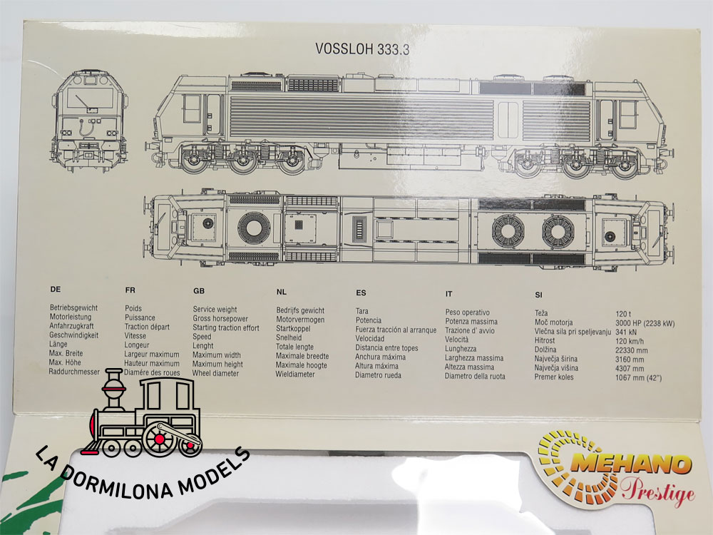 DM324 H0 =DC DIGITAL MEHANO 46350 LOCOMOTORA DIESEL 333 381-2 CONTINENTAL RAIL - OVP